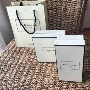 3 gift items gift wrap boxes bag Jo Malone
